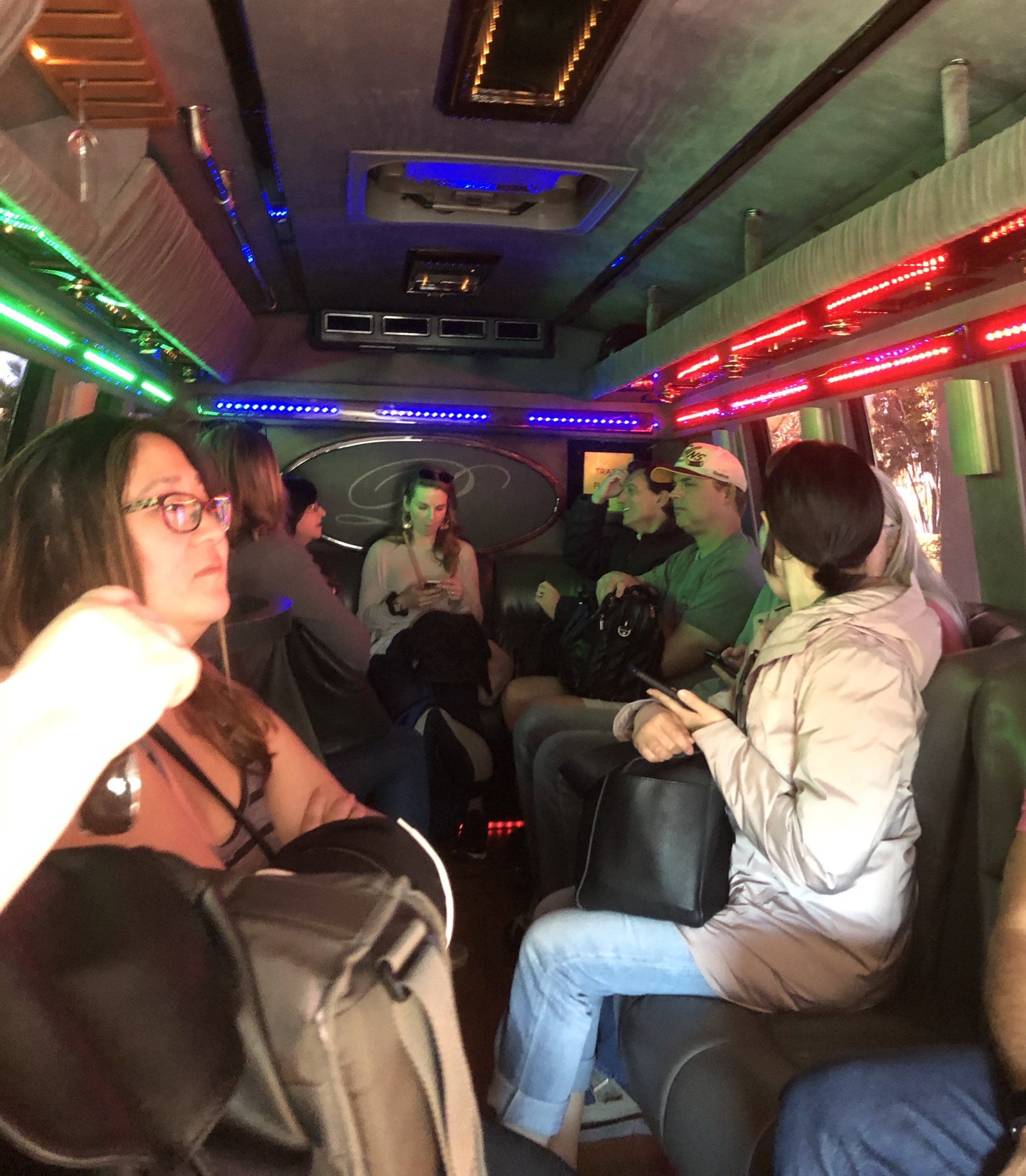 Party bus shuttle back to airport